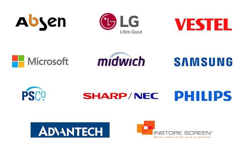 Saturn Visual Solutions partner logos