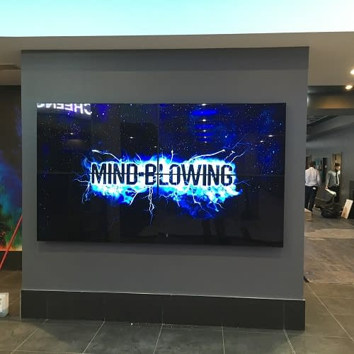 Video wall at an ODEON cinema