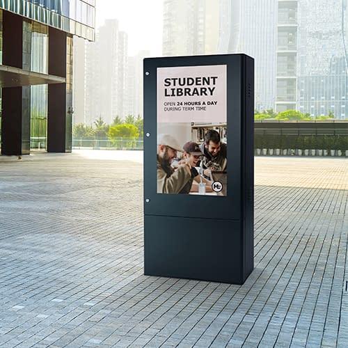 Freestanding outdoor digital signage totem